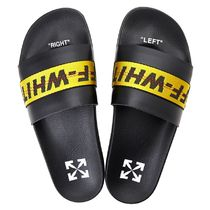 Off-White Shower Shoes PVC Clothing Logo Shower Sandals