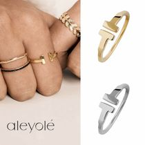aleyole Costume Jewelry Casual Style Party Style Silver 18K Gold