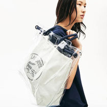 LACOSTE Casual Style A4 Crystal Clear Bags Logo Totes