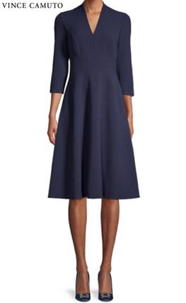 A-line Plain Medium Office Style Elegant Style Dresses