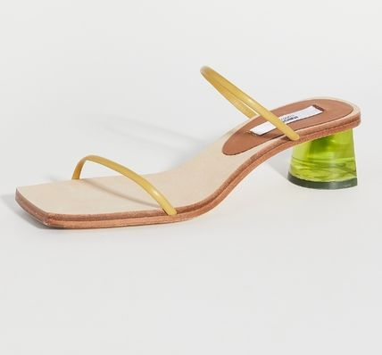 Leather Logo Sandals