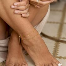 aleyole Chain Silver Anklets