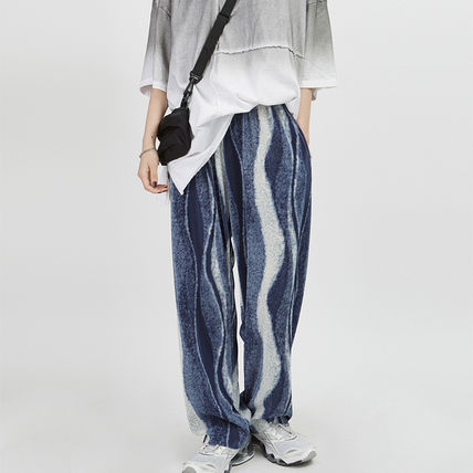 Raucohouse Unisex Street Style Oversized Pants