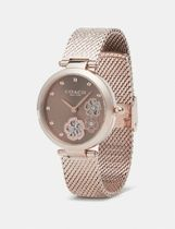 Coach Casual Style Round Party Style Stainless Elegant Style