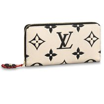 Louis Vuitton Leather Long Wallet  Logo Long Wallets