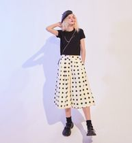 ELF SACK Dots Chiffon Medium Midi Culottes
