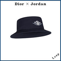 Christian Dior Unisex Collaboration Wide-brimmed Hats