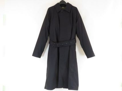 Burberry BURBERRY Cotton Trench Coat Navy #800436