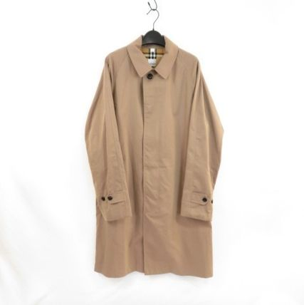 Burberry BURBERRY Cotton Trench Coat Taupe #8025055