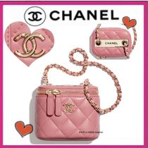 CHANEL MATELASSE Casual Style Lambskin Vanity Bags Chain Plain Elegant Style
