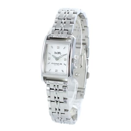 Coach Casual Style Square Quartz Watches Stainless Office Style