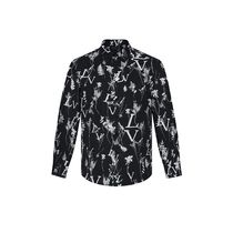 Louis Vuitton Lv Printed Leaf Regular Long-Sleeved Shirt