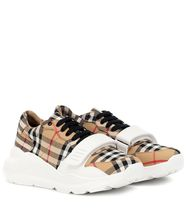 Burberry Other Plaid Patterns Platform Plain Toe Lace-up Casual Style