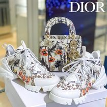 Christian Dior Flower Patterns Rubber Sole Casual Style Logo