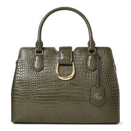 Casual Style Crocodile 2WAY Plain Other Animal Patterns