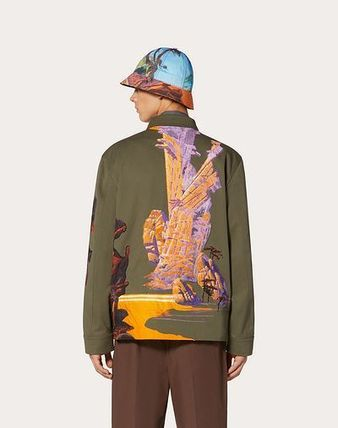 Camouflage Tropical Patterns Blended Fabrics Street Style