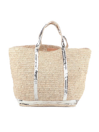 Blended Fabrics A4 Plain Logo Straw Bags