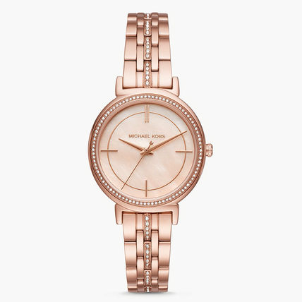 Michael Kors Casual Style Studded Round Quartz Watches Stainless