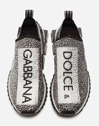 Dolce & Gabbana With Jewels Logo Loafers & Slip-ons