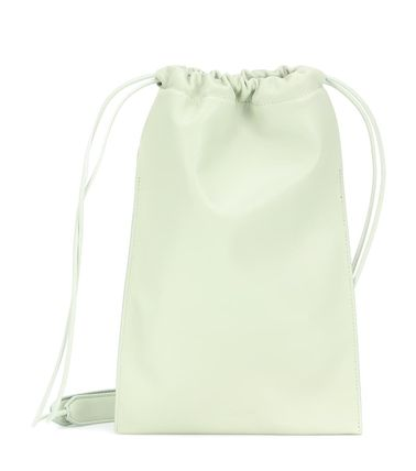 Plain Leather Purses Crossbody Bucket Bags