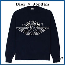 Christian Dior Unisex Street Style Collaboration Luxury Sweaters