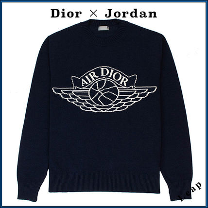 Christian Dior Luxury Unisex Collaboration Street Style Sweaters