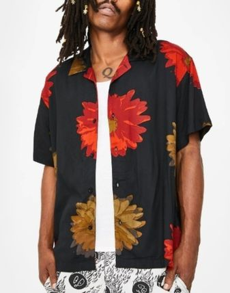 OBEY Street Style Plain Short Sleeves Shirts