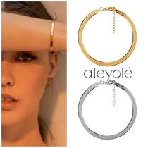 aleyole Casual Style Street Style Party Style Silver 18K Gold