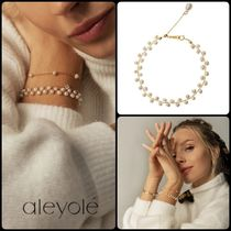 aleyole Casual Style Party Style Silver 18K Gold Office Style