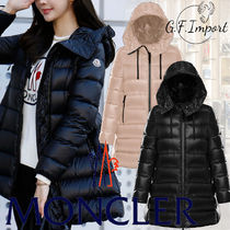MONCLER SUYEN Nylon Plain Logo Down Jackets