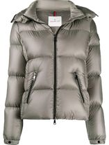 MONCLER Short Nylon Logo Down Jackets