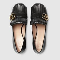 GUCCI GG Marmont Leather Mid-Heel Pump