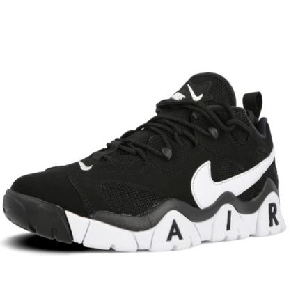 Nike AIR BARRAGE Leather Logo Sneakers