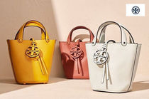 Tory Burch MILLER Casual Style Calfskin Street Style Plain Leather Handmade