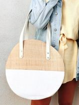 SABO SKIRT Plain Straw Bags