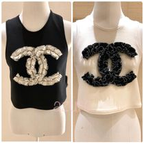 CHANEL Casual Style Formal Style  Logo V-neck & Crew neck