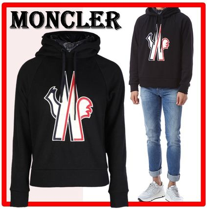 MONCLER Hoodies Street Style Long Sleeves Cotton Hoodies