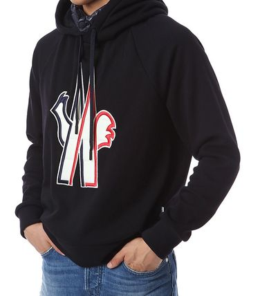 MONCLER Hoodies Street Style Long Sleeves Cotton Hoodies 12