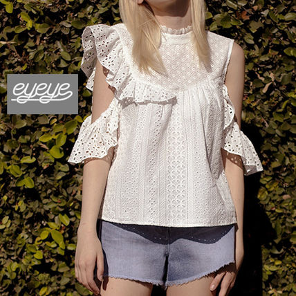 Street Style Short Sleeves Shirts & Blouses