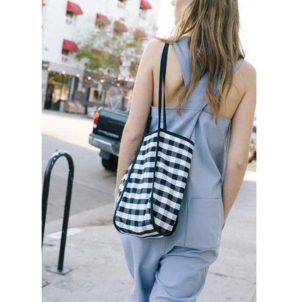 Gingham Street Style Logo Shoppers