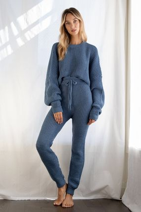 Street Style Plain Co-ord Lounge & Sleepwear