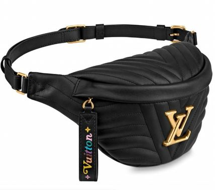 Louis Vuitton BUMBAG Casual Style Plain Leather Elegant Style Crossbody Logo