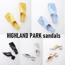 AND YOU Casual Style Plain Leather Block Heels Party Style
