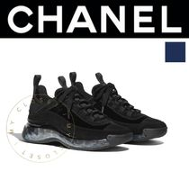 CHANEL SPORTS Suede Street Style Plain Leather Handmade Logo Sneakers