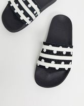 adidas Stripes Dots Open Toe Platform Casual Style Street Style