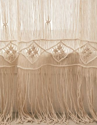 Urban Outfitters Plain Fringes Sheer Curtains