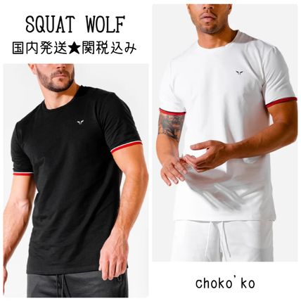 SQUAT WOLF Tops Street Style Activewear Tops