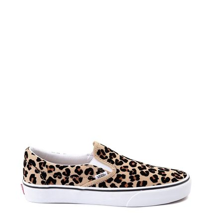 VANS SLIP ON Leopard Patterns Tassel Street Style Loafers & Slip-ons