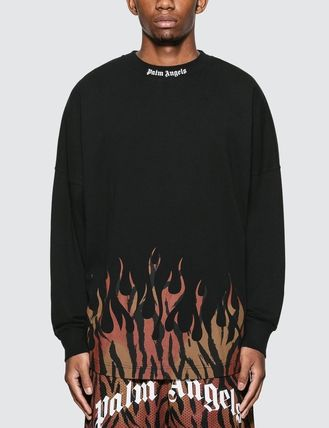 Palm Angels Long Sleeve Crew Neck Street Style Long Sleeves Cotton 2