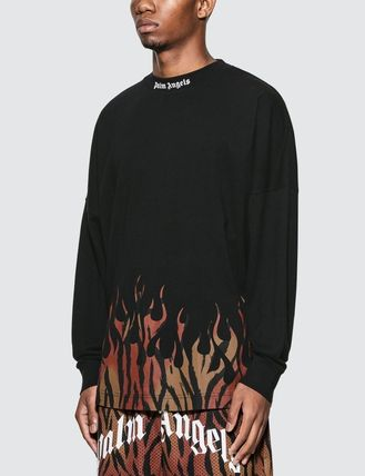 Palm Angels Long Sleeve Crew Neck Street Style Long Sleeves Cotton 3